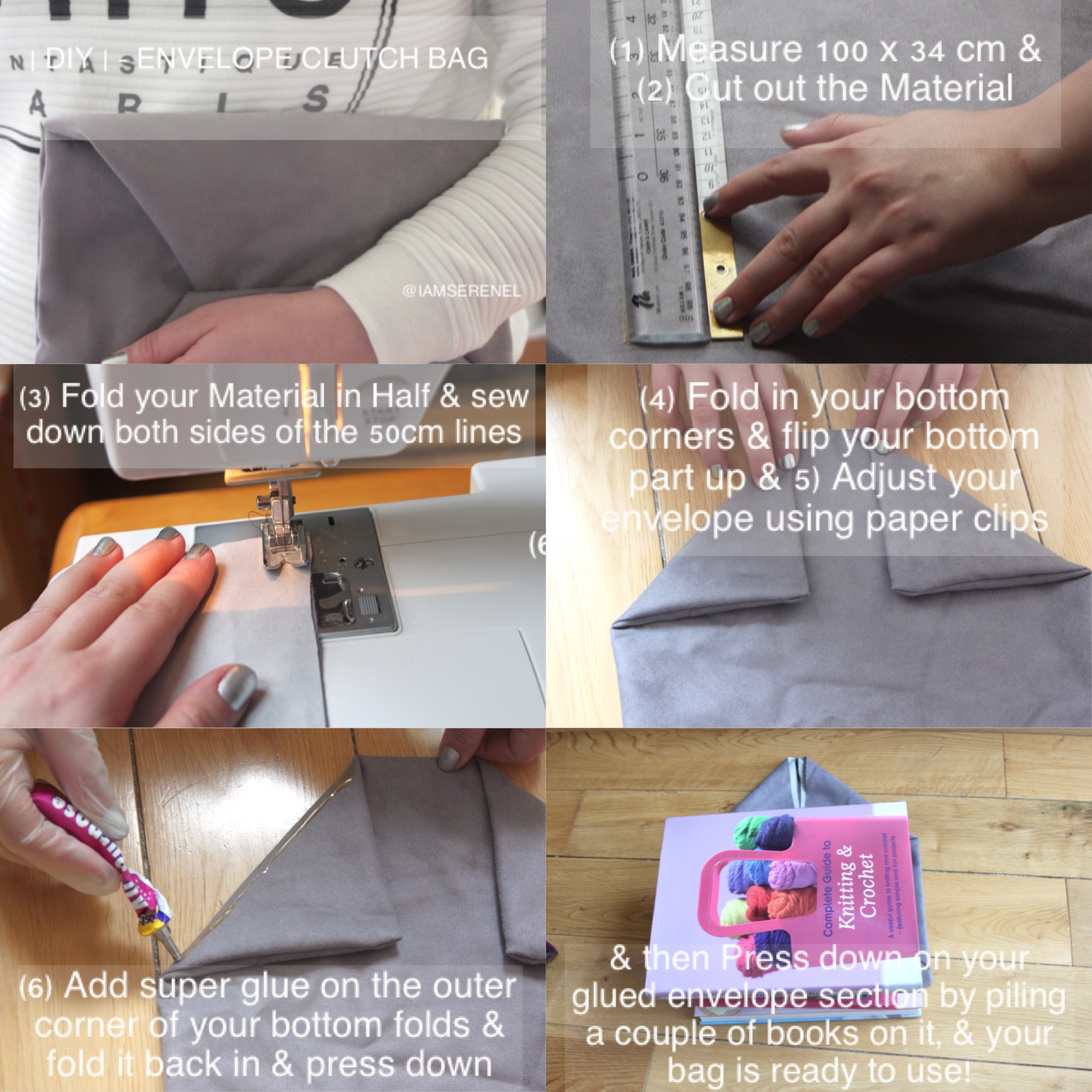 |DIY| - Envelope Clutch Bag Tutorial